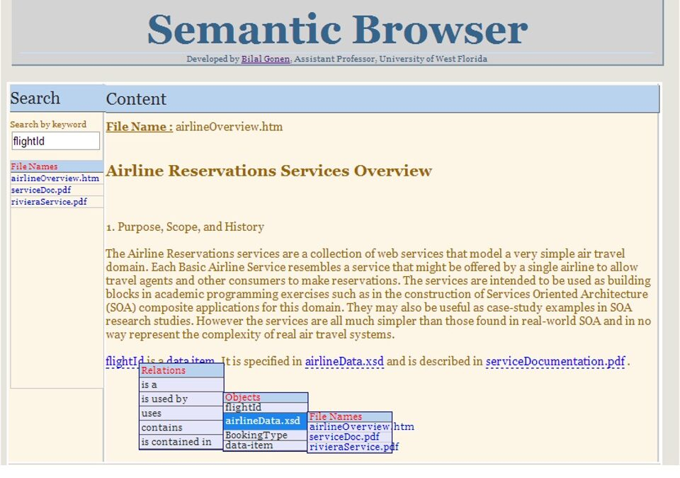 SemanticBrowser